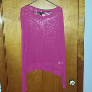Hot Pink Hole Sweater